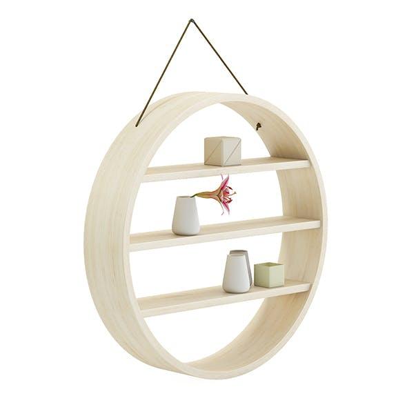 Circle Shaped Wall Shelf 3D Model