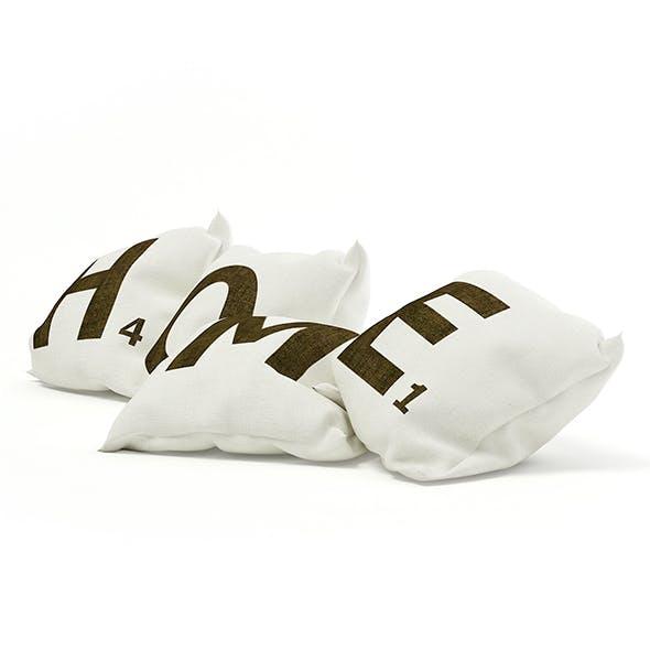 Decorative Pillows 3D Model - 3DOcean Item for Sale