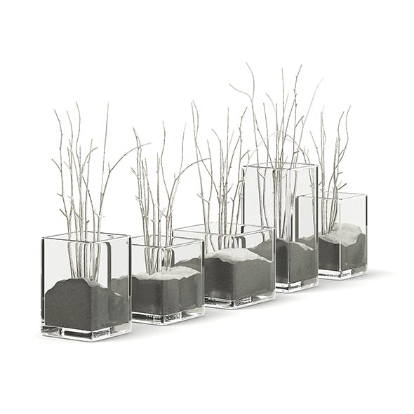 Decorative Flasks 3D Model - 3DOcean Item for Sale