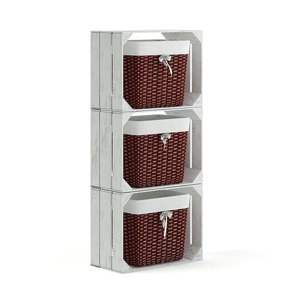 Basket Shelf 3D Model - 3DOcean Item for Sale