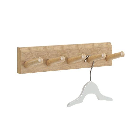 Wooden Wall Hanger 3D Model - 3DOcean Item for Sale
