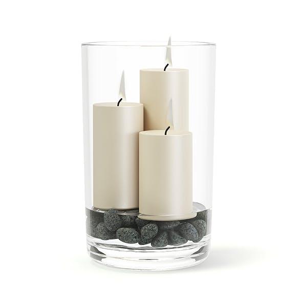 Candlesticks in Glass Vase 3D Model - 3DOcean Item for Sale