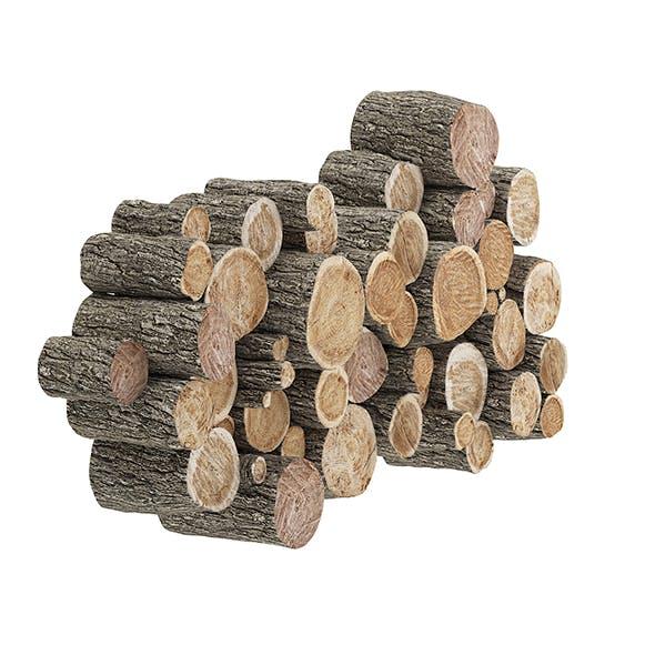 Wood Logs Decoration 3D Model - 3DOcean Item for Sale
