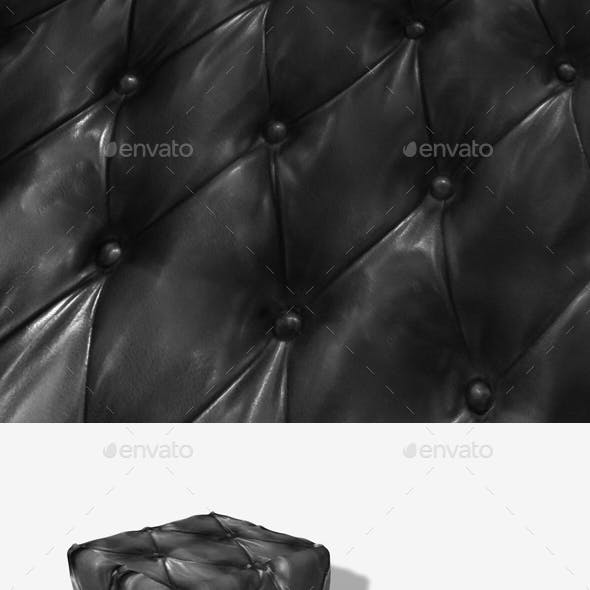 Black Leather Padding Seamless Texture