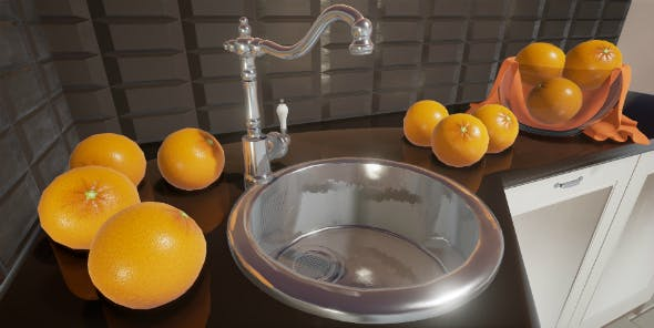 Sink with a tap - 3DOcean Item for Sale