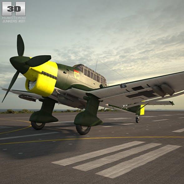 Junkers Ju 87 Stuka - 3DOcean Item for Sale