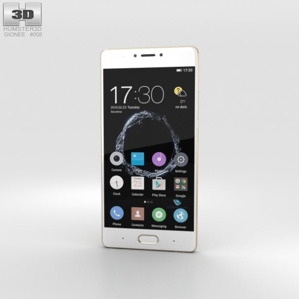 Gionee S8 Gold - 3DOcean Item for Sale