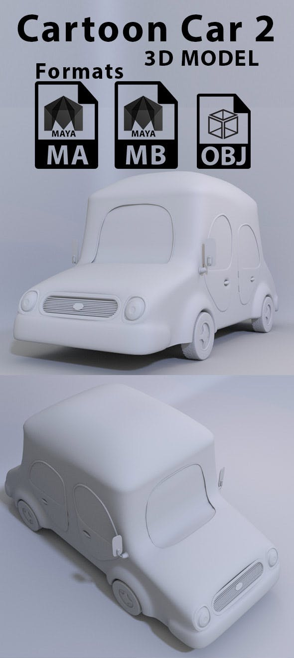 Cartoon Car 2 - 3DOcean Item for Sale