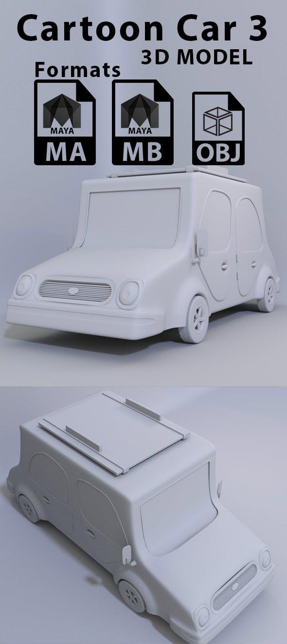 Cartoon Car 3 - 3DOcean Item for Sale