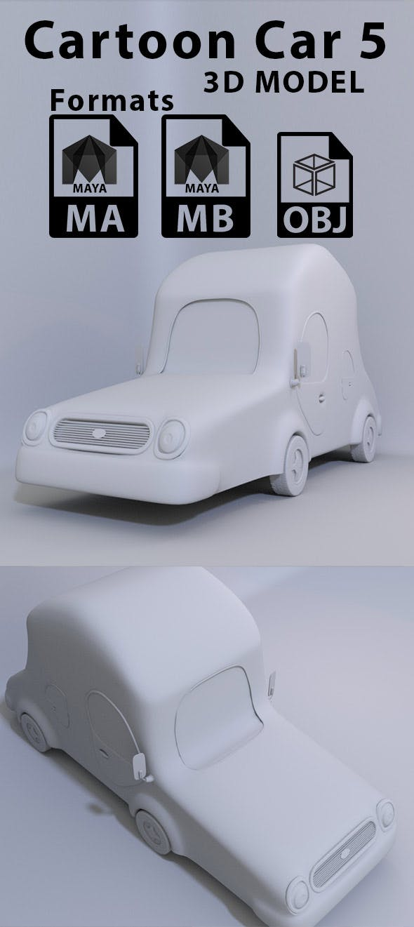 Cartoon Car 5 - 3DOcean Item for Sale