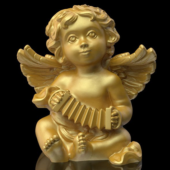Angel statuette 3D print model
