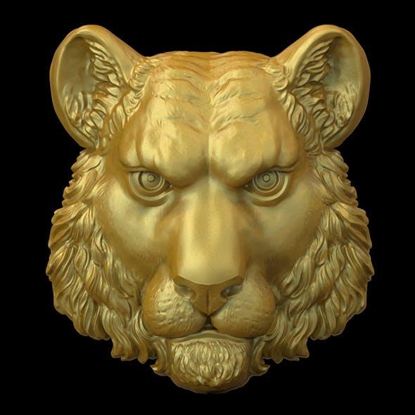 Tiger head 3D print model