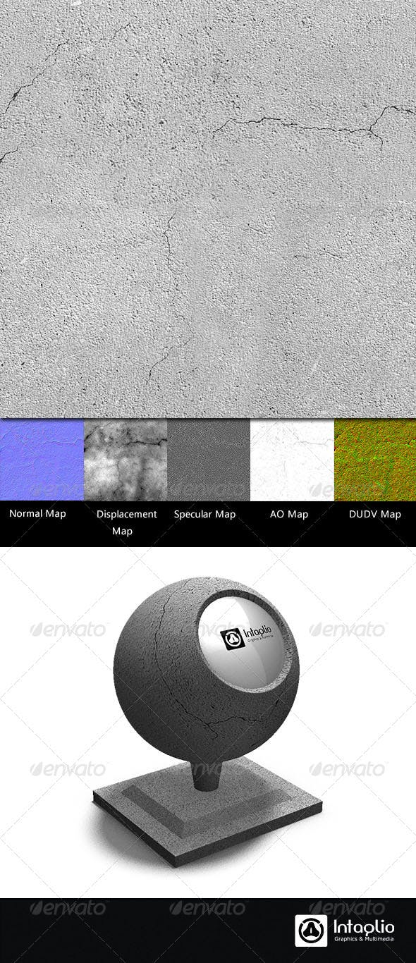 Cracked Cement Wall Seamless Texture - 3DOcean Item for Sale
