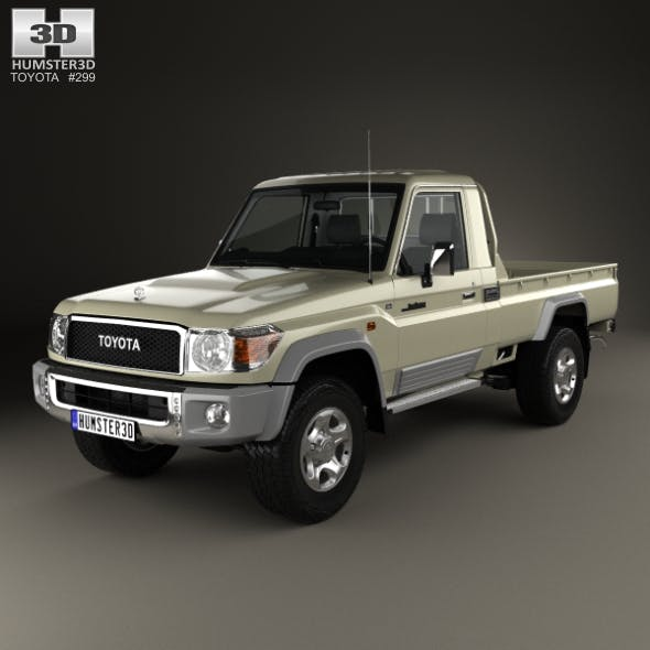 Toyota Land Cruiser Single Cab Pickup with HQ interior 2007 - 3DOcean Item for Sale
