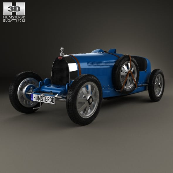 Bugatti Type 35 with HQ interior 1924 - 3DOcean Item for Sale