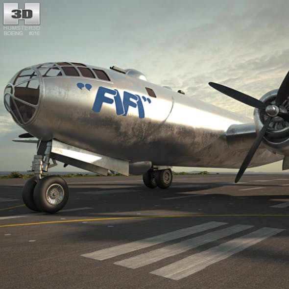 Boeing B-29 Superfortress - 3DOcean Item for Sale