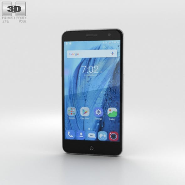 ZTE Blade V7 Gray - 3DOcean Item for Sale