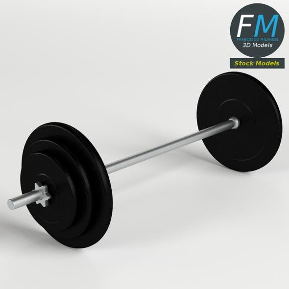 Gym Equipment - Plate and Bar Weights set