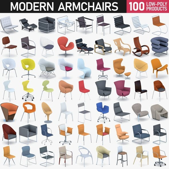 Modern Armchairs Collection - 100 Products