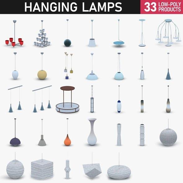 Interior Light Vol 2 - 30 Hanging Lamps - 3DOcean Item for Sale