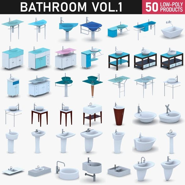 Bathroom Vol 1 - Sinks - 3DOcean Item for Sale