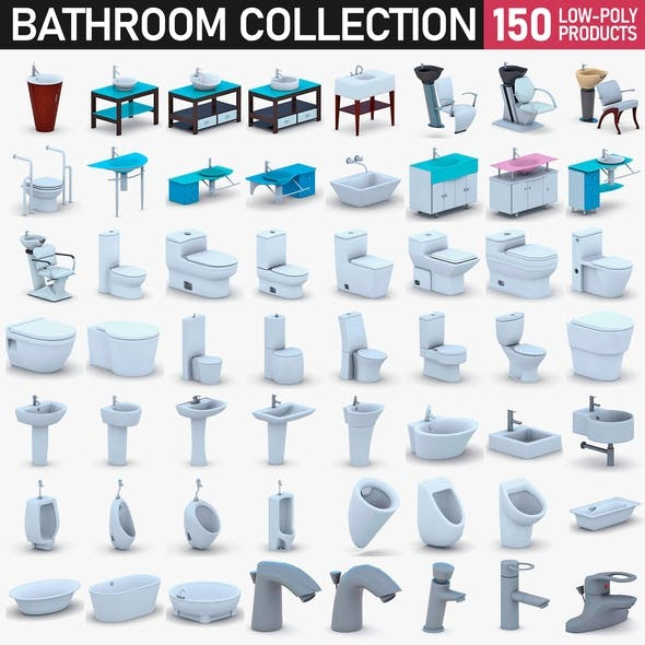Bathroom Collection Full Set - 150 Products - 3DOcean Item for Sale