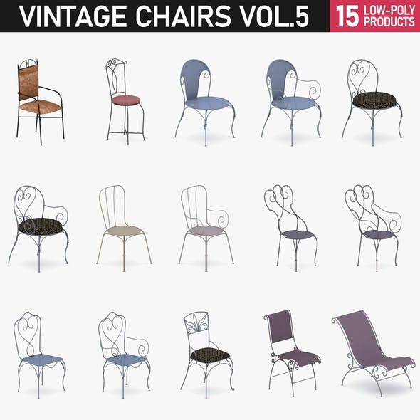 Chairs Collection Vol 5 - 3DOcean Item for Sale