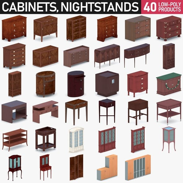 Cabinets and Nightstands - 40 Products - 3DOcean Item for Sale