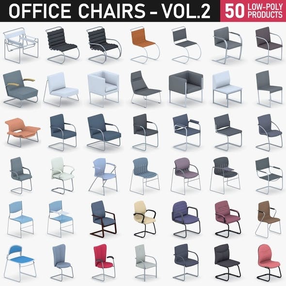 Office Chairs Collection Vol 2 - 50 Products - 3DOcean Item for Sale