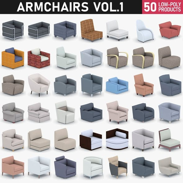 Armchairs Collection Vol 1 - 3DOcean Item for Sale