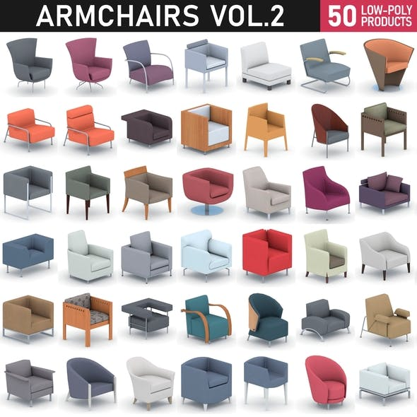Armchairs Collection Vol 2 - 3DOcean Item for Sale