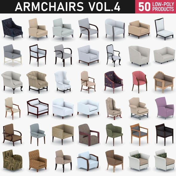 Armchairs Collection Vol 4 - 3DOcean Item for Sale