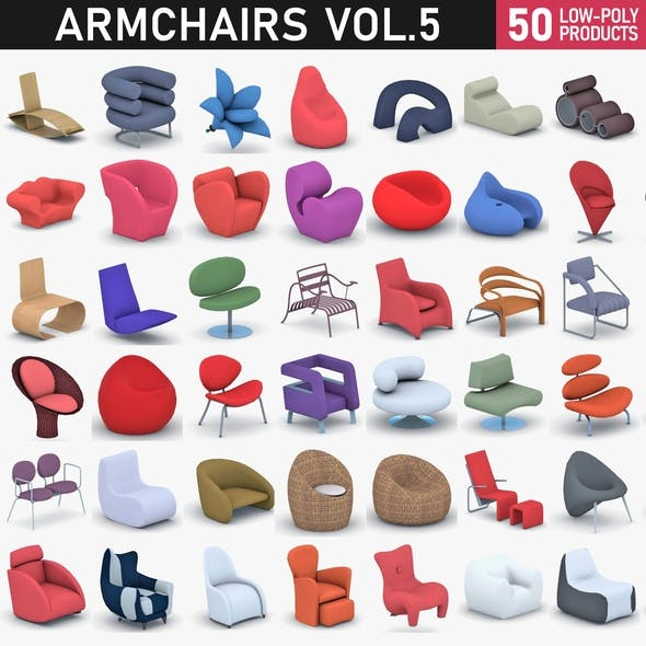 Armchairs Collection Vol 5 - 3DOcean Item for Sale