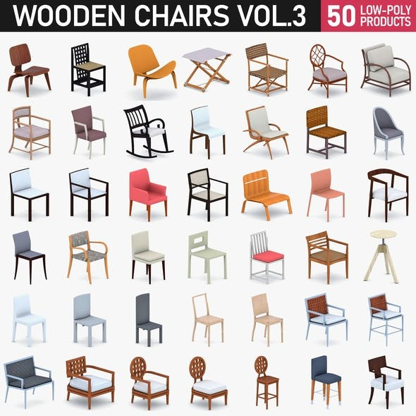 Chairs Collection Vol 3 - 3DOcean Item for Sale