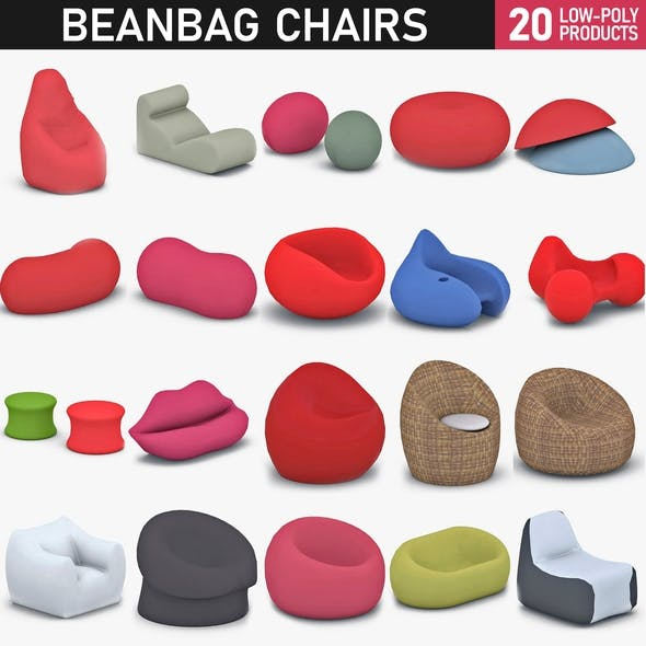 Bean Bag Chairs Collection - 3DOcean Item for Sale