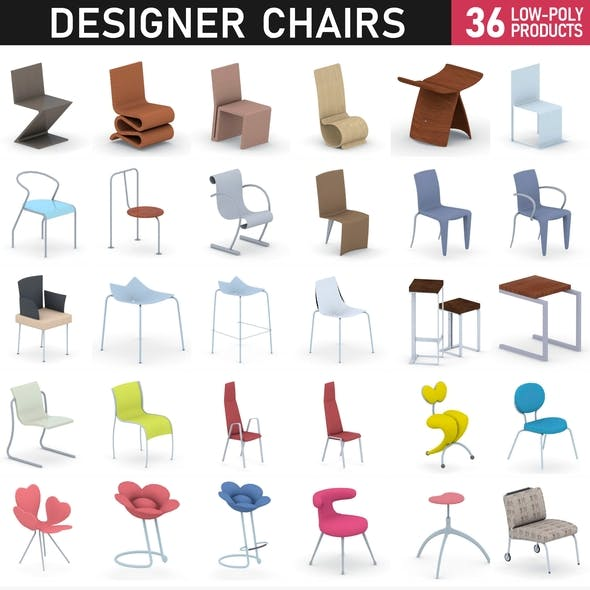 Chairs Collection Vol 6 - 3DOcean Item for Sale
