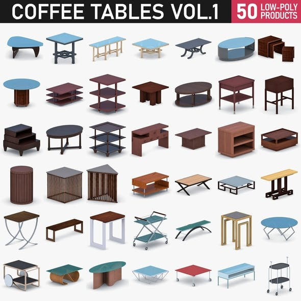 Coffee Table Collection - Vol 3 - 3DOcean Item for Sale