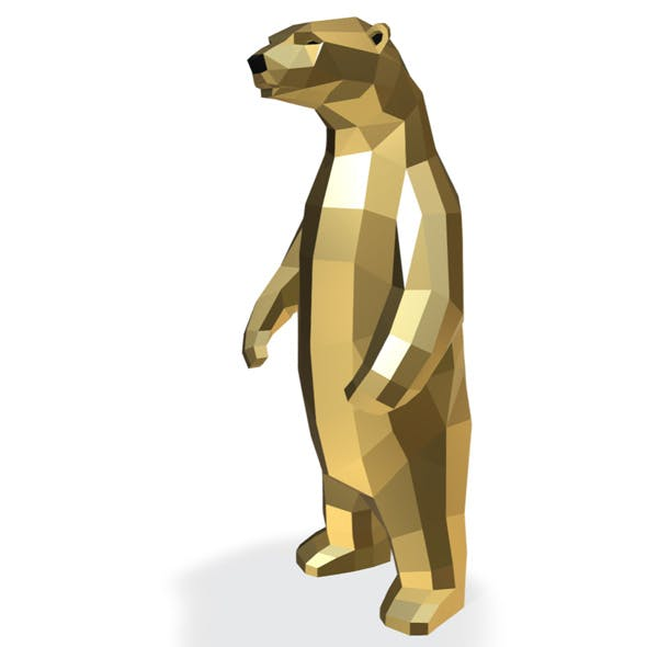 Low Poly Bear 3D print model