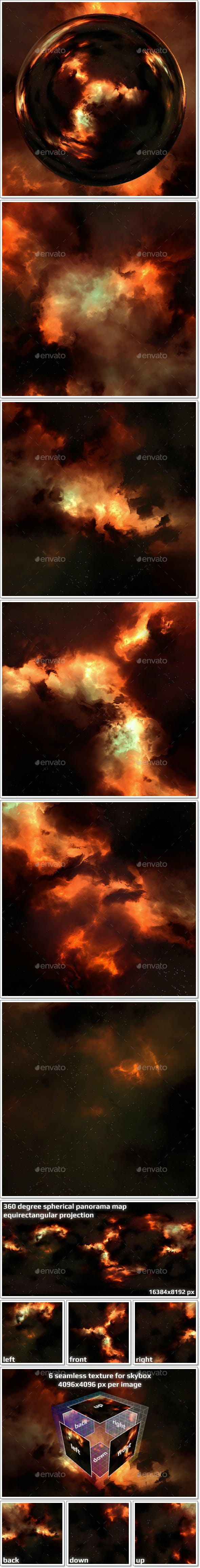 Nebula Space Environment HDRI Map 019 - 3DOcean Item for Sale