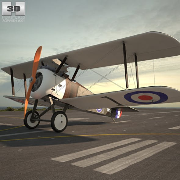 Sopwith Camel - 3DOcean Item for Sale