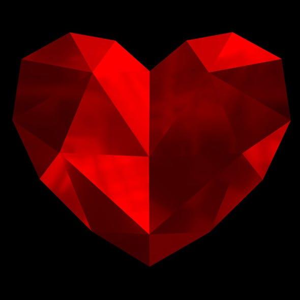 Lowpoly heart 3D print model