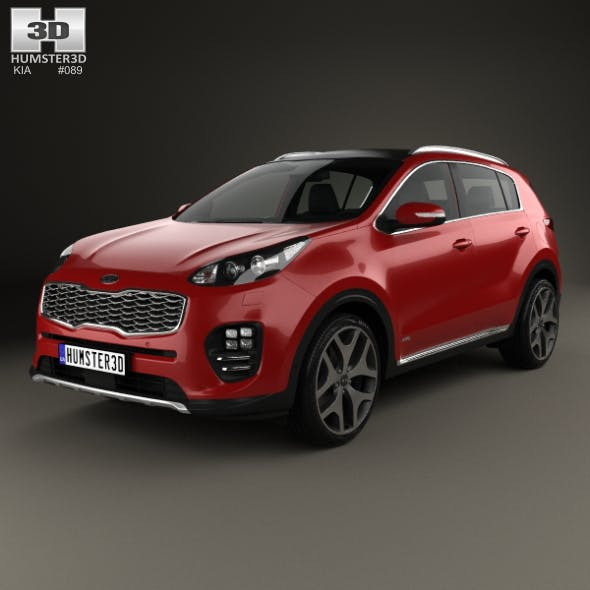 Kia Sportage GT-Line with HQ interior 2016 - 3DOcean Item for Sale