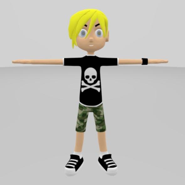 Skate Boy Model Character - 3DOcean Item for Sale