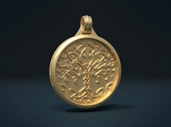 Tree Pendant - 3DOcean Item for Sale