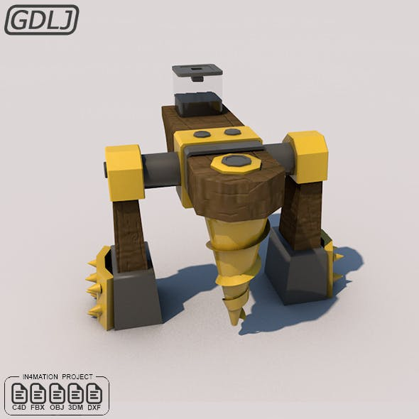 Dark Elixir Drill level six 3D Model Clash of clans