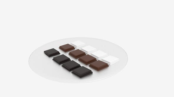 Chocolate Block Platter - 3DOcean Item for Sale