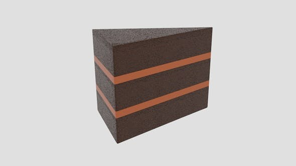 Chocolate Cake Slice - 3DOcean Item for Sale