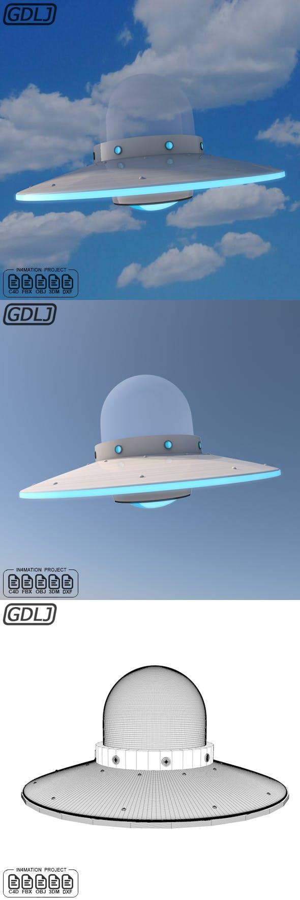 Alien UFO 3D Model - 3DOcean Item for Sale
