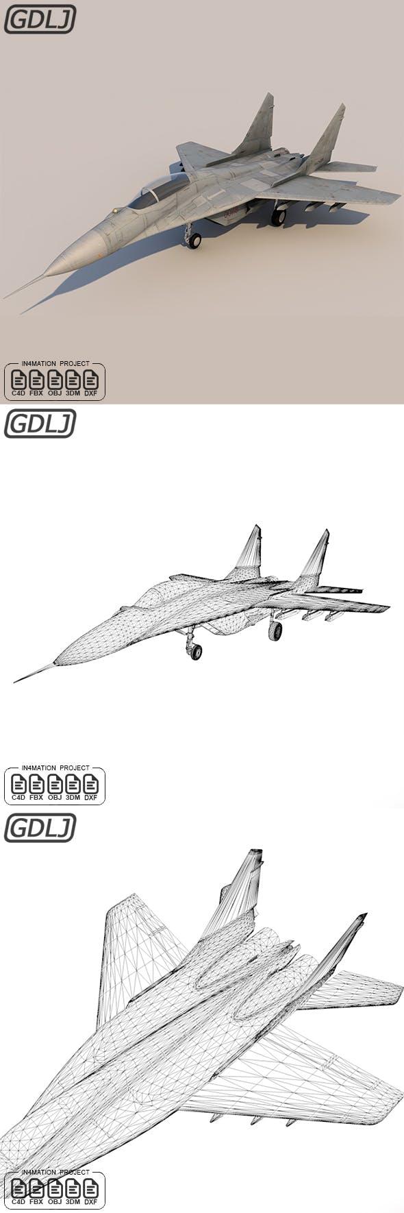Mikoyan MiG-29 3D Model - 3DOcean Item for Sale