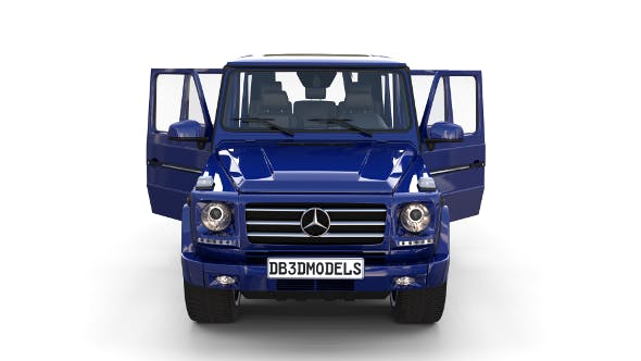 Mercedes Benz G Class with interior Blue - 3DOcean Item for Sale
